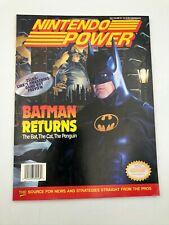 Nintendo Power Vol 48 May 1993 Batman Returns Inserts Trading Cards Bubsy Poster