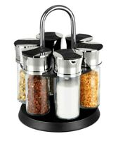 Home Basics NEW 6 Piece Revolving Glass Spice Rack - SR01236