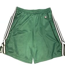 Vintage Champion Men's Gym Shorts Size Medium Green White Striped RARE 90s