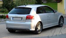 Fits AUDI A3 8P 3 Doors (2003-2008) - Rear Lip Bumper Spoiler Diffuser Add On