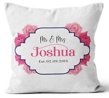 Personalised Any Text Name Cushion Floral Design Mothers Day Wedding Gift 99