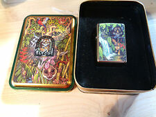 ZIPPO LIGHTER LIMITED EDITION FOREST 1995 VINTAGE NEW 45FOR