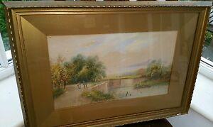 T Mortimer 19C Antique Victorian Watercolour Landscape Artist Fl 1880-20 signed