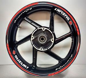 Suzuki Racing Red Wheel Rim Sticker Motorbike 003/048