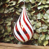 Giant Red White Teardrop Candy Cane Droplet Christmas Tree Display Decoration