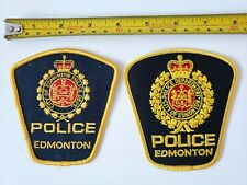 Lot 2 City of Edmonton Police Patch Gold Alberta Canada Vintage patches
