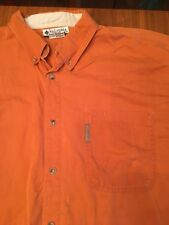 Mens Orange Colombia Shirt XL Button Hiking Camping