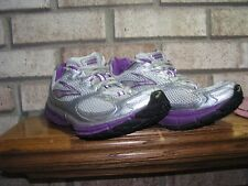 BROOKS SUMMON 3 RUNNERS WOMENS 9.5 NICE USED PURPLE SILVER GRAY see pics-details