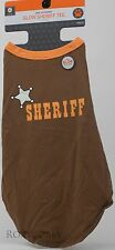 Brown & Orange Glow Sheriff Tee Pet Dog Shirt Large 22 in Length & up to 90 lbs