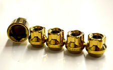 NNR OPEN ENDED SPLINE LUG NUT WHEEL LOCK SET GOLD 12X1.5