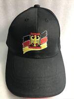 NEW-Germany Hat Deutstchland KNAB 78136- Schonach  Red Yellow Black Ball Cap