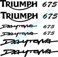 Triumph Daytona Decals Set Stickers Graphics Triple 675 Trackday Tank Fairing
