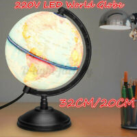 20/32CM Light Rotating Earth Globe World Map Geography Educational Toy LED  √