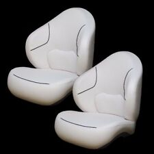 Sea Doo White / Charcoal Boat Bucket / Captain / Drivers Seating Seats (Pair)