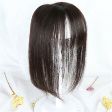 Silk Base Mono Silk Straight  Hair With Flat Bang Topper Hairpiece Closure Toupe