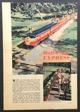Griffith Park Train miniature Railroad ride 1948 pictorial GM F3 Los Angeles CA