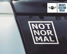 Not Normal MINI Cooper S window sticker decals graphic
