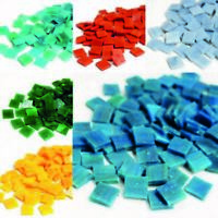 Mini Stained Glass tiles Mosaic tiles for arts and crafts - 250g Various Colours