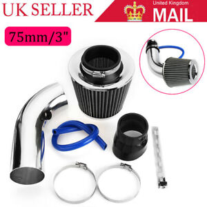 75mm/3'' Auto Car Turbo Cold Air Intake Induction Hose Pipe Kit System Filter UK