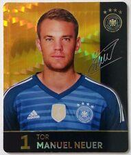 Fussball WM  2018 REWE Glitzerkarte Nr. 1 Manuel Neuer
