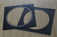"""16 8""""x8"""" black/silver circle flip over mats for Spicers or G F Smiths albums"""
