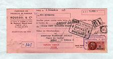"""PARIS (XI°) USINE de TRINGLES à RIDEAUX """"ROUSSEL & Cie"""" en 1953"""