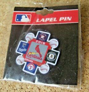 2016 St. Louis Cardinals Interleague pin Astros Athletics Rangers Royals c37540