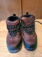 Boys Timberland Brown Leather Lace-up Boots Size 2 Medium