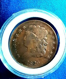 💥RARE 1826 Classic Head Half Cent 1/2cent low minted 260k. Rotated die error💥