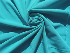Fabric Crepon Ribbed PolyTURQUOISE Teal  Dressmaking Solid Colored 3.5 YDS