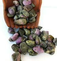 Three Stichtite and Serpentine Tumbled Stone Grade A Lg 25-30mm Healing Crystal