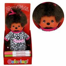 Design Set | 20 cm | Monchhichi Puppe | Mädchen | Shirt zum Ausmalen