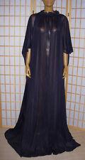 Nylon Kleid Transperant Tunika Kimono Haus-Robe Homedress schwarz Gr . S XXXL