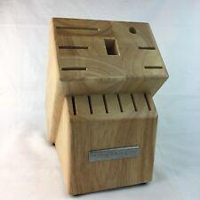 KitchenAid Knife Block Storage 13 Slot Oak Wood Rubber Feet No Knives