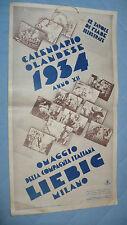 CALENDARIO OLANDESE 1934 COMPAGNIA ITALIANA LIEBIG 12 TAVOLE FIABE ILL.GUSTAVINO