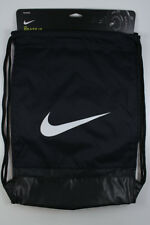 NIKE BRASILIA GYMSACK BLACK/WHITE DRAWSTRING BAG BACKPACK GYM SACK BA5338 NEW