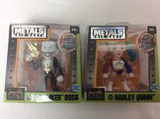 "2 NEW Jada Metals Suicide Squad 2.5"" The Joker Boss M428 & Harley Quinn M423"