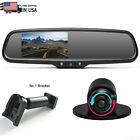 4.3'' Rear View Mirror Monitor Bracket No1+ Backup Camera Waterproof For Mustang