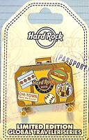 Hard Rock Cafe Chicago Hotel Global Traveler Series 2017 Suitcase Pin LE New