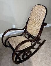 Bentwood Cane Back Rocking Chair (Michael Thonet Style) Mint