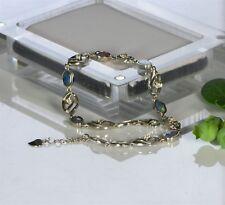 Australian Opal Bracelet, Natural Opal, Opal Doublet Chain, Handmade, 22cm