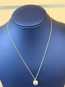 Tiffany & Co. 925 Sterling Silver Hardwear Ball Necklace 18'' * Pre-owned*