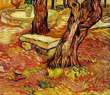 Le banc de pierre dans le jardin à l'hôpital Saint Paul 1889 A4