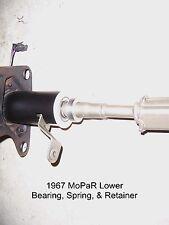 67 MoPar New Steering Column Lower Bearing, Collar, and Spring W/O tilt 100% USA