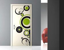 00150 Wall Stickers Adesivi Murali Porta disegni cerchi Pop anni '70 79x210 cm