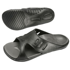 NWT Spenco Polysorb Total Support Men's Sz 12 Fusion Sandal Slip-on Slides Black