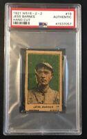 1921 W516-2-2 JESS BARNES #19 Hand Cut Strip Card PSA Authentic