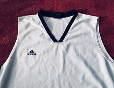 👍Adidas Basketball Shirt, XXL, Weiss