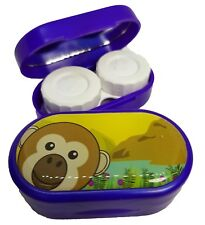 Caso de Espejo Lindos Animales-Lentes De Contacto remojo Estuche Reino Unido Made-Monkey