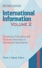 International Information: Documents, Publications, and Electronic Information o